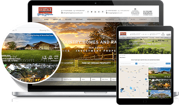 Heritage Texas Country Properties - AgentImage Best IDX Websites