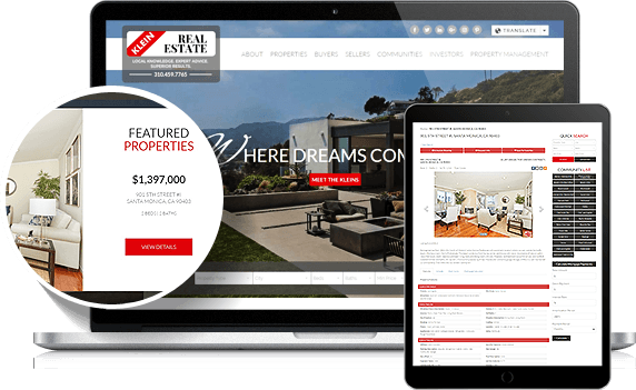 Klein Real Estate IDX Website Design