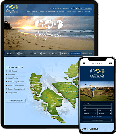 California Life Properties - AgentImage Best Mobile Real Estate Websites