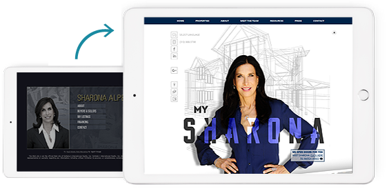 Before and After of My Sharona Real Estate Agent Website
