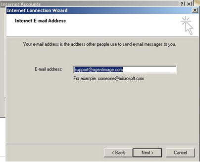 In all lowercase, please fill in the full email (example: joe@yourdomainname.com), then click Next.