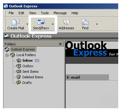 Click - send and receive - in the main Outlook window and you should send/receive your emails!