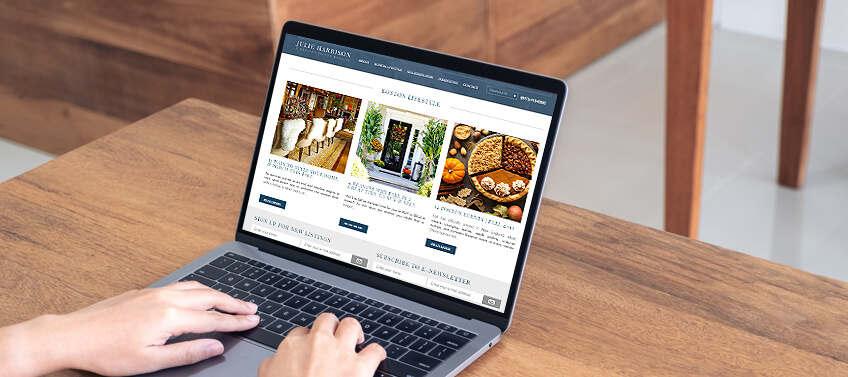 An Agent Image website with comprehensive neighbourhood guide on food or restaurants, shops, parks, and other places of interest
