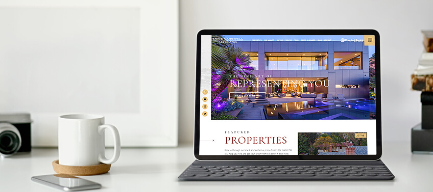 Agent Image real estate website with breathtaking photos of luxury listings with views of the LA skyline