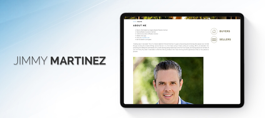 Jimmy Martinez Bio is built for creating value in real estate through service & integrity
