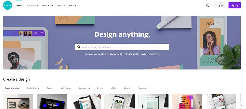 Canva graphic design tool