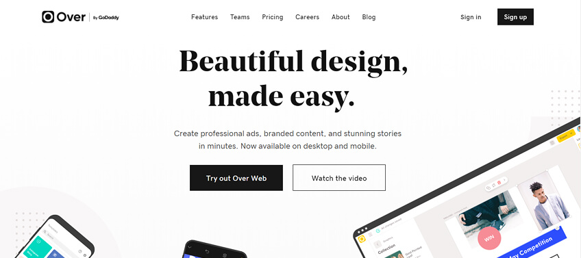 Over graphic design tool