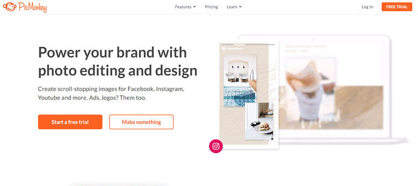 PicMonkey graphic design tool